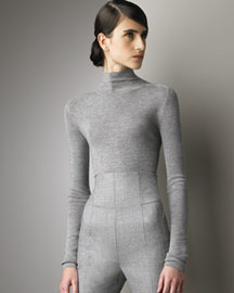 Akris Knit Mock Turtleneck -  Fall Trunk Show -  Bergdorf Goodman :  fall retro sleek design innovative