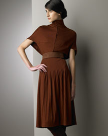 Akris Turtleneck Jersey Dress -  Designer -  Bergdorf Goodman