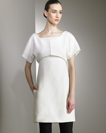 Narciso Rodriguez Capelet & Wool Dress -  Narciso Rodriguez -  Bergdorf Goodman