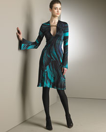 Roberto Cavalli Printed Dress -  Designer -  Bergdorf Goodman  :  roberto cavalli dress