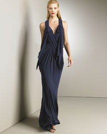 Donna Karan Collection Draped Jersey Gown -  Fall -  Bergdorf Goodman :  jersey bergdorf goodman gown dress