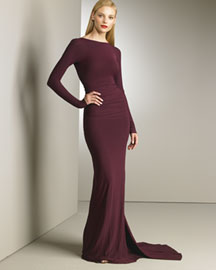 Donna Karan Collection Floor-Length Dress -  Designer Collections  -  Bergdorf Goodman :  modern gown bergdorf goodman collection