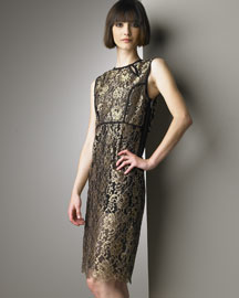 Derek Lam Metallic Lace Dress -  Designer -  Bergdorf Goodman