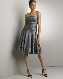 Ralph Lauren Black Label            Marisa Taffeta Dress -   		Black Label - 	Bergdorf Goodman