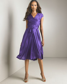 Doo.Ri Wrap-Front Dress -  Apparel  -  Bergdorf Goodman :  violet wrap plum dress