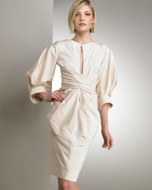 Donna Karan Collection Wrap Shirtdress -  Neutrals -  Bergdorf Goodman :  bergdorf goodman incircle neutrals wrap