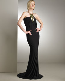 Donna Karan Collection Long Halter Dress -  Resort -  Bergdorf Goodman :  luxe bergdorf goodman karan