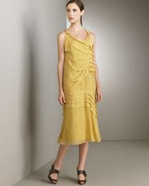 Alberta Ferretti            Chiffon Back Ruffle Dress-  Alberta Ferretti-Bergdorf Goodman