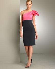 Carolina Herrera            One Shoulder Bow Dress-  Carolina Herrera-Bergdorf Goodman