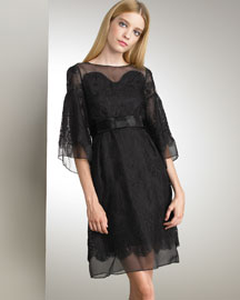 Dolce & Gabbana Lace Dress -  Black & White -  Bergdorf Goodman :  fashion accessory goodman chloe evening