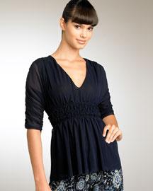 Jean Paul Gaultier Knit Top- Black & White- Bergdorf Goodman