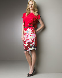 Roberto Cavalli Floral Ruffled Dress -  Apparel  -  Bergdorf Goodman