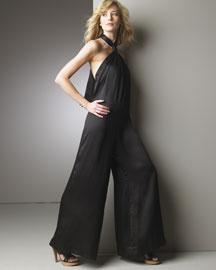 Stella McCartney Halter Charmeuse Jumpsuit- Designer- Bergdorf Goodman