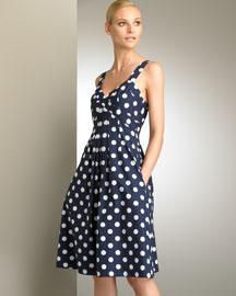 Carolina Herrera            Polka Dot Dress-  Designer-Bergdorf Goodman