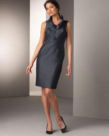 Lela Rose Ruffle Neck Dress- Apparel - Bergdorf Goodman