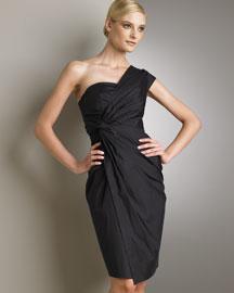 One-Shoulder Ruched Dress gby Donna Karen
