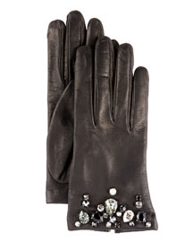 Crystal Gloves -                                 Bergdorf Goodman :  accents italy stone crystal