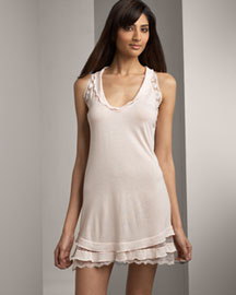 La Perla Martina Chemise -  Sleepwear and Robes -  Bergdorf Goodman :  italy v necklince light pink la perla