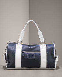 Morgan Grays Leather Overnighter -  Carryalls -  Bergdorf Goodman