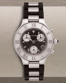 Cartier XXL 21 Chronoscaph  -  Watches -  Bergdorf Goodman :  quartz timepiece roman numerals gifts