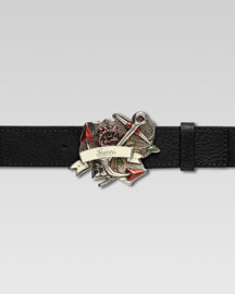 Gucci Anchor Buckle Belt -  Accessories -  Bergdorf Goodman