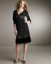 Bergdorf Goodman Online -D&G Dolce & Gabbana-Jersey Trimmed Dress :  fashion dress designer bergdorfgoodman