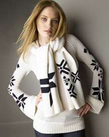 Ya-Ya -  Lambswool Sweater & Scarf  from bergdorfgoodman.com