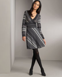 M Missoni Striped Pointelle Dress- M Missoni- Bergdorf Goodman