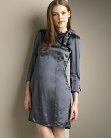 MARC by Marc Jacobs Seamed Satin Dress -  Dresses -  Bergdorf Goodman