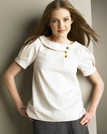 MARC by Marc Jacobs Twill Top -  Tops -  Bergdorf Goodman :  blouse marc jacobs bergdorf goodman womens