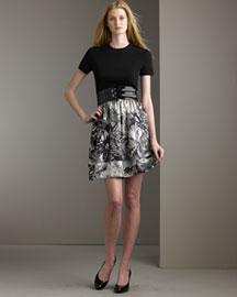 Theory Printed Dress- Bergdorf Goodman