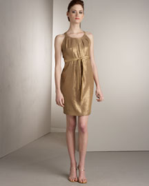 Carmen Marc Valvo Sleeveless Sequined Dress -  Carmen Marc Valvo -  Bergdorf Goodman :  formal dress straps marc valvo