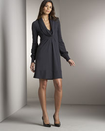 Diane vonFurstenberg Cowl-Neck Dress -  Dresses -  Bergdorf Goodman :  wool diane von furstenberg dress cowl neckline