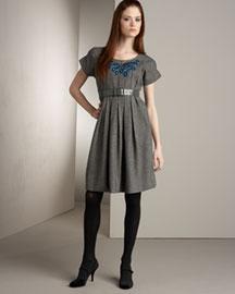 Lela Rose Pintucked Shirtdress- Lela Rose- Bergdorf Goodman