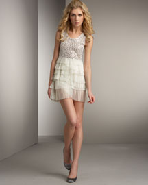 Alice + Olivia Tutu Dress -  Alice + Olivia -  Bergdorf Goodman :  dress minidress tutu cream