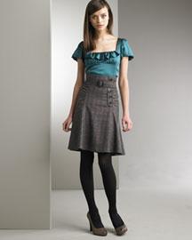 Nanette Lepore Plaid Skirt- Skirts- Bergdorf Goodman