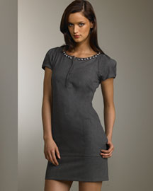 Robert Rodriguez Sheath Dress -  Robert Rodriguez -  Bergdorf Goodman :  beaded dress short graphite