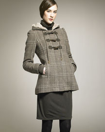 Juicy Couture Plaid Toggle Coat -  Coats & Vests -  Bergdorf Goodman