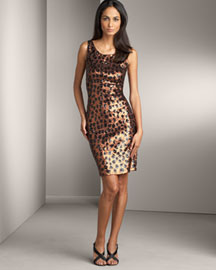 Carmen Marc Valvo Sequined Dress -  Carmen Marc Valvo -  Bergdorf Goodman