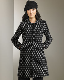 Milly Three-Button Coat -  Milly -  Bergdorf Goodman :  wool coat milly dot