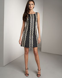 Tracy Reese Low-Back Shift Dress -  Tracy Reese -  Bergdorf Goodman :  shift cream beading tunic