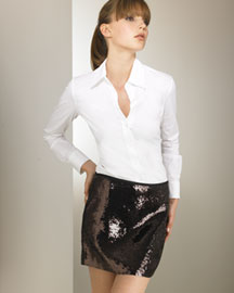 Theory Sequined Miniskirt -  Skirts -  Bergdorf Goodman :  sequined theory mini miniskirt