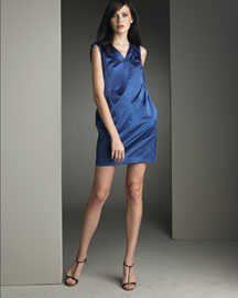 Robert Rodriguez Satin Dress -  Dresses -  Bergdorf Goodman :  blue robert rodriguez satin dress minidress robert rodriguez dress