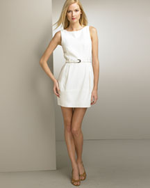 Theory Belted Dress -  Dresses -  Bergdorf Goodman :  wool theory dress belted wai belted waist