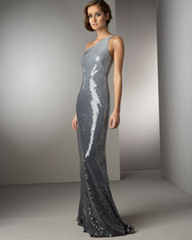 Carmen Marc Valvo Ombre Sequined Gown - Designer- Bergdorf Goodman from bergdorfgoodman.com
