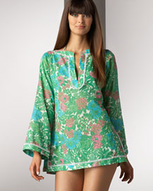 Milly Floral Tunic -  Cover-Ups -  Bergdorf Goodman :  milly beach coverup
