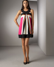 Shoshanna Swing Dress -  Shop by Trend -  Bergdorf Goodman :  geometric print clothing womens clothing women