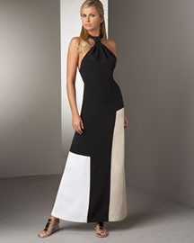 Halter Patio Dress :  fashion black and white clothing womens