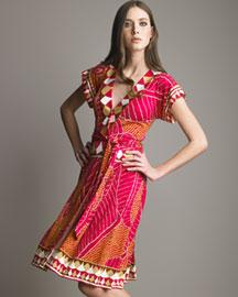 Diane von Furstenberg Nalia Silk Wrap Dress- Bright- Bergdorf Goodman