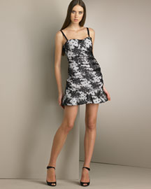 D&G Dolce & Gabbana Lace Mini Dress -  Party -  Bergdorf Goodman :  designer dress dresses sweetheart neckline